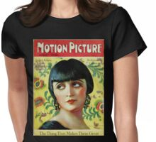 Pola Negri Motion Picture Mag t Womens Fitted T-Shirt