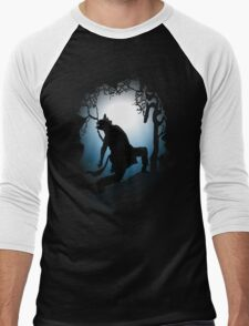 Howling Into The Woods Men's Baseball ¾ T-Shirt