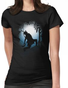 Howling Into The Woods Womens Fitted T-Shirt