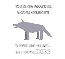 CANADIAN DIRE WOLVES Photographic Print