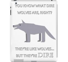 CANADIAN DIRE WOLVES iPad Case/Skin