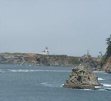 Cape Arago Lighthouse by Edith Farrell