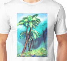 Tree ferns in the green rainforest Unisex T-Shirt