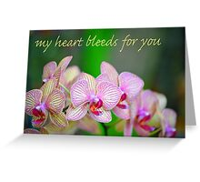 Veined Orchid Greeting Card