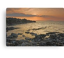 Rock Sunset Landscape Canvas Print