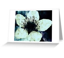 Dark Blue Greeting Card