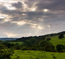God Rays over Northumberland by TomGreenPhotos