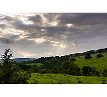 God Rays over Northumberland Photographic Print