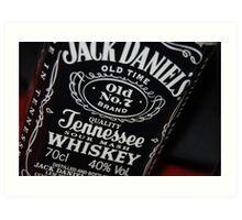 jack daniels bottle Art Print
