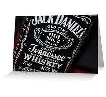 jack daniels bottle Greeting Card
