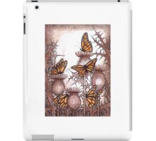 Smaller Monarch butterflies and  spear thistles iPad Case/Skin