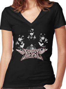 Evil Super Girls Women's Fitted V-Neck T-Shirt