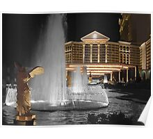 ๑۩۞۩๑ FOUNTAIN IN FRONT OF CAESARS PALACE LAS VEGAS ๑۩۞۩๑  Poster