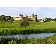 Alnwick Castle and the Aln Photographic Print
