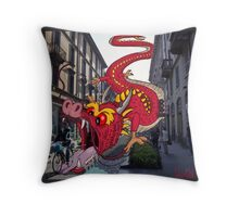 Monsters in Milan 9  Throw Pillow