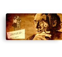 Charles Bukowski - love version Canvas Print