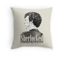 Sherlock Holmes - Sherlocked Crosshatch Portrait Throw Pillow