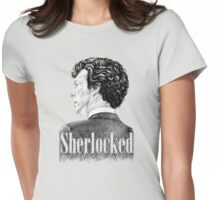 Sherlock Holmes - Sherlocked Crosshatch Portrait Womens Fitted T-Shirt