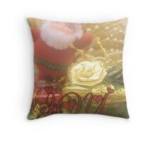 Santa / Joy Throw Pillow