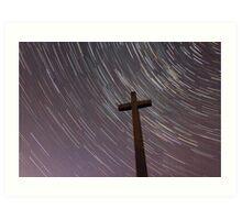 Cross & Stars Art Print