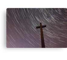 Cross & Stars Canvas Print