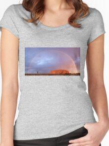 Uluru Dreaming Women's Fitted Scoop T-Shirt