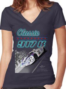 Classic Endurance Porsche 917K Women's Fitted V-Neck T-Shirt