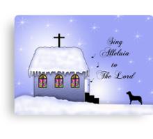 Church Snow Scene Canvas Print