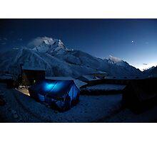New moon over Ama Dablam Photographic Print