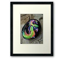 Rock 'N' Ponies - RAINBOW TAIL PONY #2 Framed Print