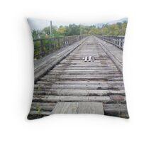 Old Train Track Bridge Throw Pillow