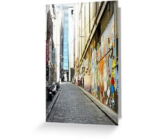 Laneway with Graffiti in Melbourne, Australia Greeting Card