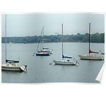 Wisconsin Sail Boats  Poster