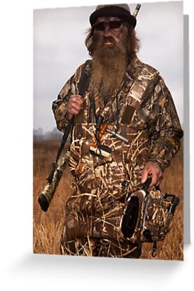 phil robertson the duck commander greeting cards postcards by