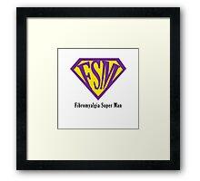 Fibromyalgia Super Man Framed Print