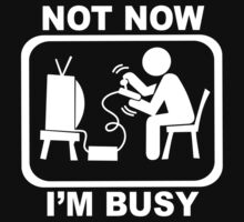 Not Now I'm Busy Kids Tee
