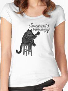 KLIBAN CAT Women's Fitted Scoop T-Shirt