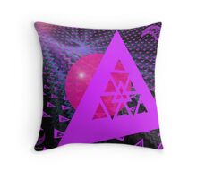 Triangulating the Sphere Throw Pillow