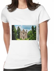 countryside  chapel,  Womens Fitted T-Shirt