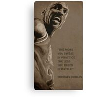 Michael Jordan - quote Canvas Print