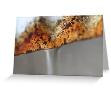 Rusted Pipes Greeting Card