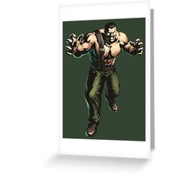 Final Fight - Mike Haggar  Greeting Card