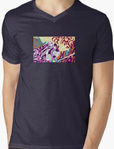 Robot Dreams in Color Mens V-Neck T-Shirt