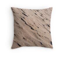 wet sand dunes Throw Pillow