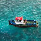 Red White and Blue Pilot Boat by dbvirago
