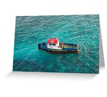 Red White and Blue Pilot Boat Greeting Card