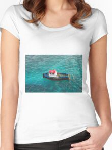 Red White and Blue Pilot Boat Women's Fitted Scoop T-Shirt