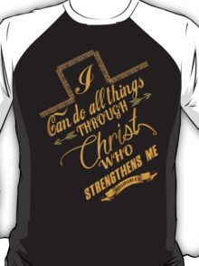 Philippians 4:13 Typography T-Shirt