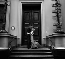 A kiss on the stairs by Josh Wayn