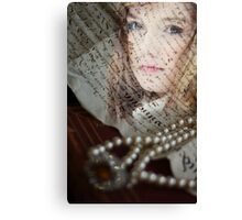 Medieval girl Canvas Print